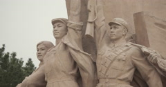 4K video of a Monument in front of Mao's Mausoleum on Tiananmen Square, Beijing Stock Footage