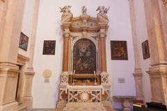 PRCANJ, MONTENEGRO - JULY 23, 2015: The Catholic Church in Prcanj, Montenegro Stock Photos