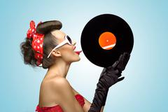 Stock Photo of The vinyl desire.