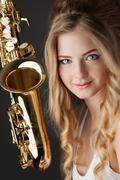 Jazz sax. Kuvituskuvat