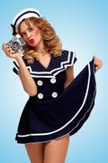 Stock Photo of Vintage sailor girl.