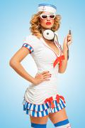 Stock Photo of Sailor melomaniac.