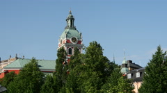 Saint James's Church in Stockholm Sweden Stock Footage
