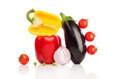 Vegetable symphony. Stock Photos