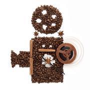 Coffee cinema. Stock Photos