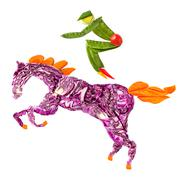 Horse rider. - stock photo