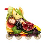 Veggie inline roller. Stock Photos