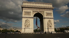 Arc de Triomphe, Paris Stock Footage