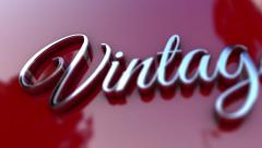 Vintage 3D Text Car Logo SUPER HD Stock Footage