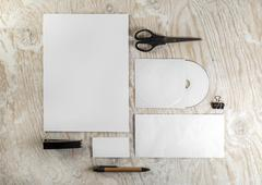 Stationery template - stock photo