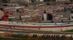 Sinners' boat on the beach from Dakar to Senegal Stock Footage