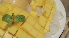 Beautiful supply mango - stock footage