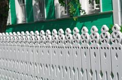 Carved palisade Stock Photos