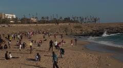 The beach of Dakar Senegal Stock Footage