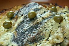 Flounder baked Stock Photos