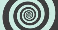 Stock Video Footage of 4K grey and mint green hypnotic circle ProRes 422 HQ