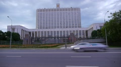 White House of Government in Russian Federation Stock Footage