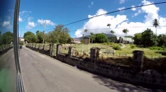 St. Kitts 069 slow passing at St. Thomas Church, seen from street with GoPro Stock Footage