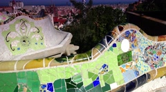 ULTRA HD 4K real time shot in Parc Guell, Stock Footage