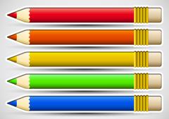 Pack of colorful pencils Stock Illustration