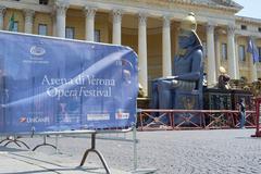 Opera props outside Arena - stock photo