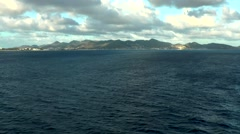 Sint Maarten 121 views on island from far, wonderful clouds Stock Footage