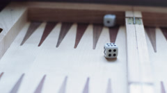 Rolling a pair of dice and getting a 6 Stock Footage