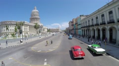 Capitolio building in Havana, Cuba Stock Footage