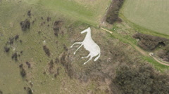 Litlington Chalk Horse - Sussex 4K Stock Footage