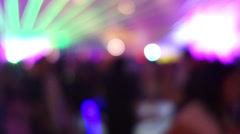 colorful disco light and beam out of focus - stock footage