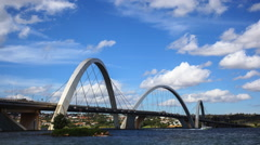 Juscelino Kubitschek Bridge Stock Footage