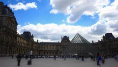 Louvre Museum Stock Footage