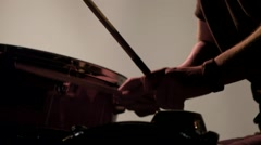 Drum Roll in Super Slow Motion Stock Footage