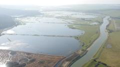 Flood Plains - Cuckmere Haven 4K Stock Footage