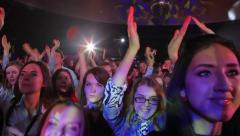 Fans applauded the star. Spectators dancing at the concert. Stock Footage