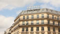 Galleries Lafayette, Paris - stock footage