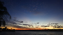 Sunset at Lake Paranoa Stock Footage