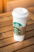 KRABI, THAILAND - July 18, 2015 : Glass of Starbuck Coffee Blended Beverages  - stock photo