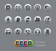 Communications Icons  -- Pearly Series - stock illustration