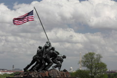 Iwo Jima Monument Time Lapse Stock Footage