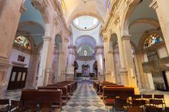 PRCANJ, MONTENEGRO - JULY 23, 2015: The Catholic Church in Prcanj, Montenegro - stock photo