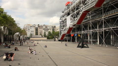 Centre Pompidou Stock Footage