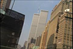 World Trade Center long shot Stock Footage