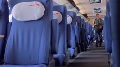 "Passengers landing at the high-speed train ""Sapsan"" Stock Footage"