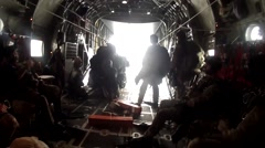 Pararescue Jumpers - stock footage