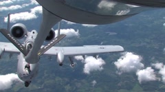 Stock Video Footage of Air National Guard Aerial Refueling