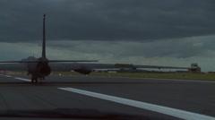 U-2 Dragon Ladies landing at RAF Fairford Stock Footage