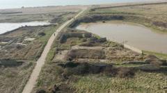 Tide Mills - East Sussex 4K - stock footage