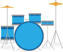 Drum set Stock Illustration