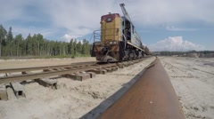 Freight Train Passing Stock Footage